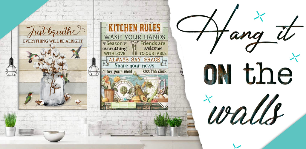 Stunning Gift Store Kitchen Blog Canvas Print Wall Art For Kitchen And Dining Room