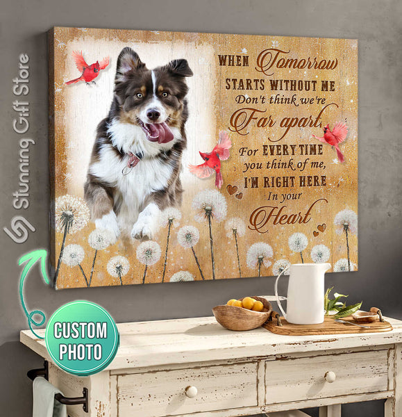 Custom Pet Memorial, Personalized Dog Memorial Gifts, Gifts To Remember A Pet, When Tomorrow Starts Without Me