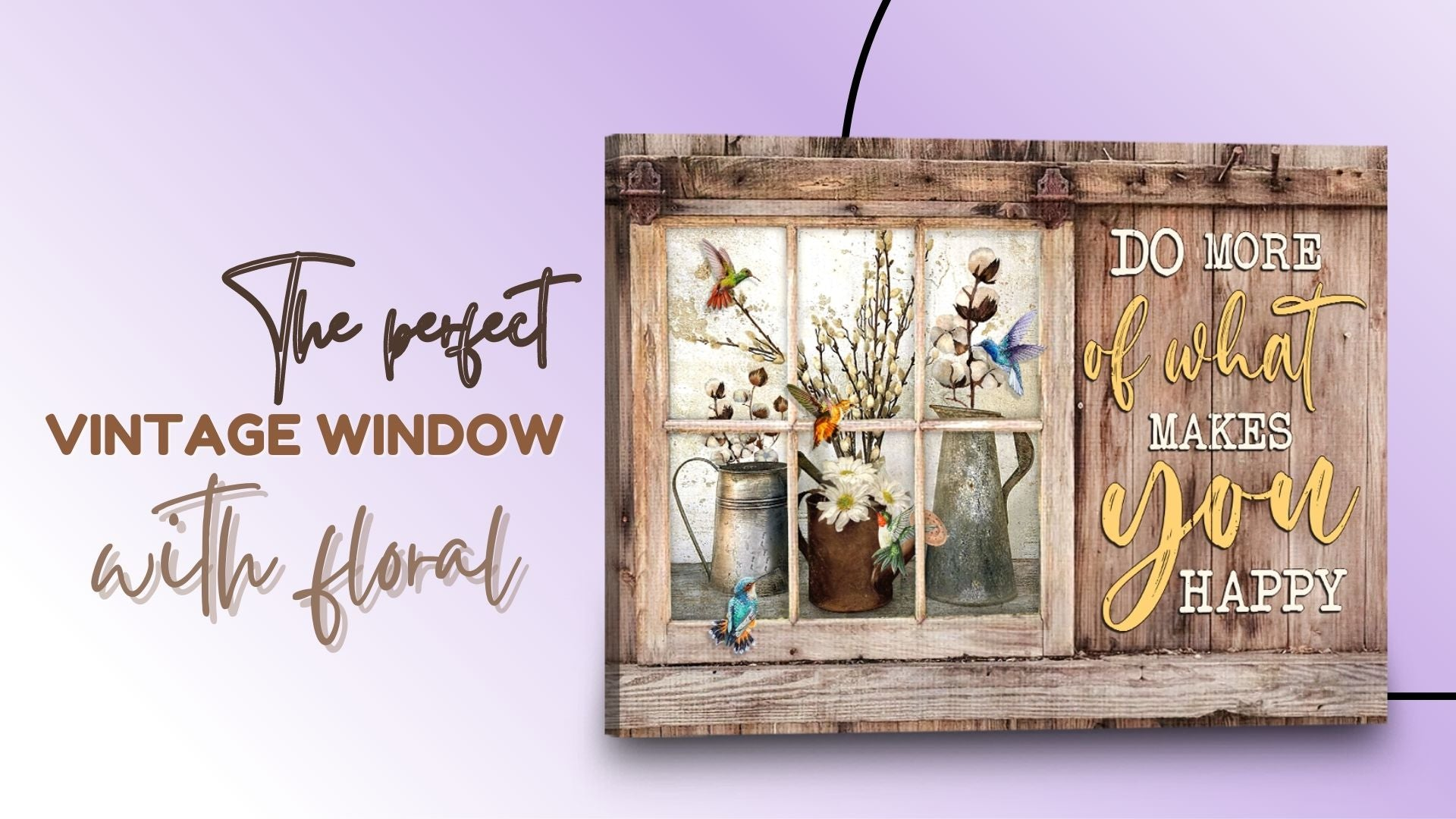 THE PERFECT WINDOW WALL ART WITH FLORAL