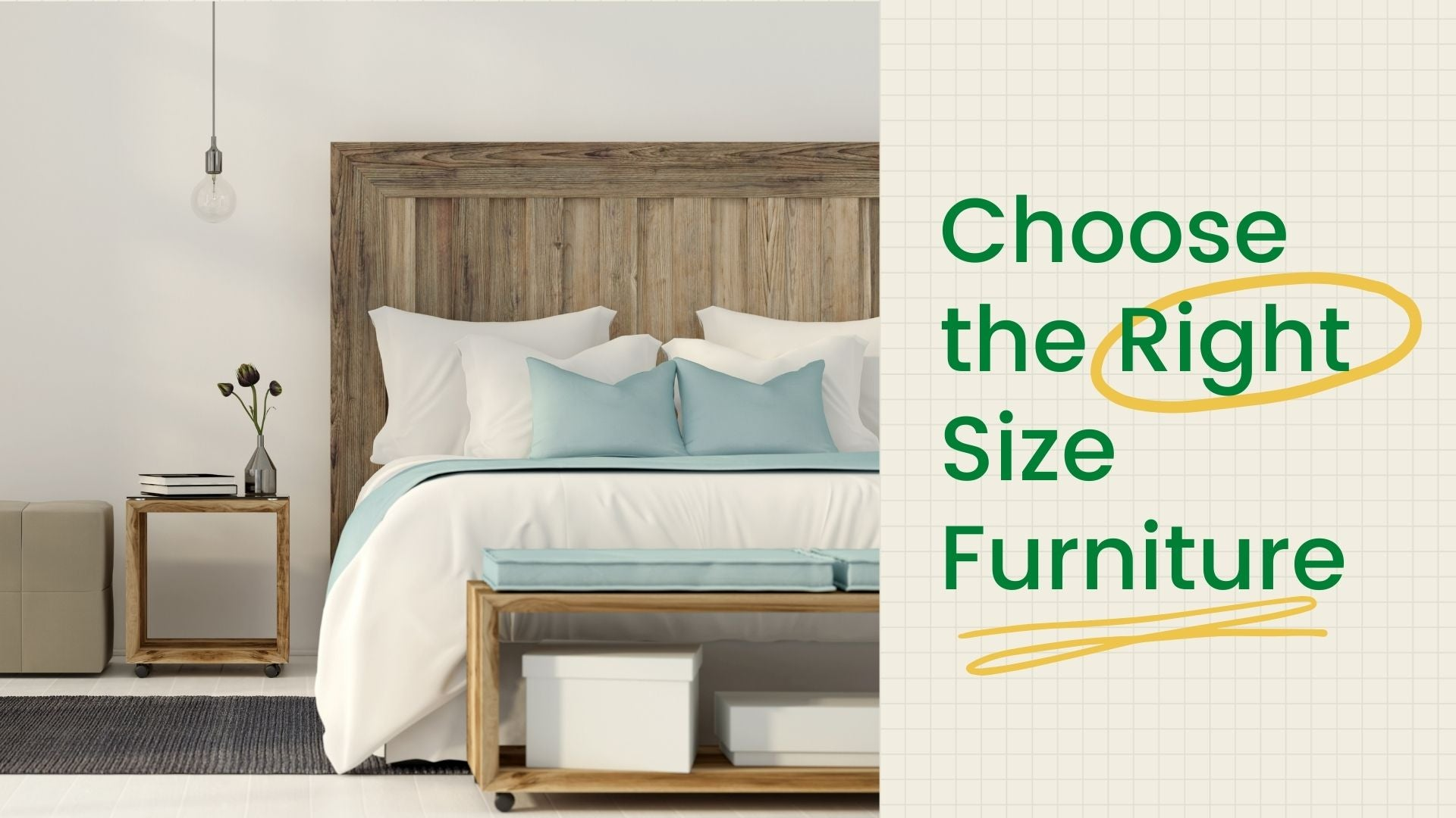 Choose the Right Size Furniture Beautiful Bedroom