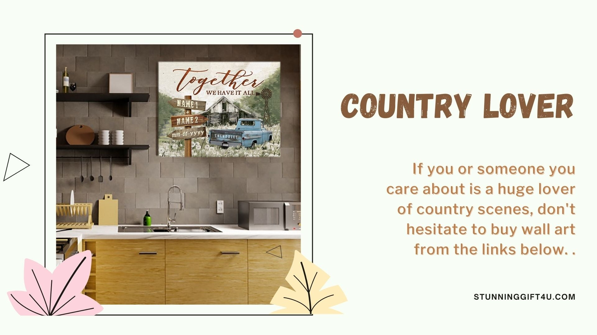 Anniversary gift for him who love country views