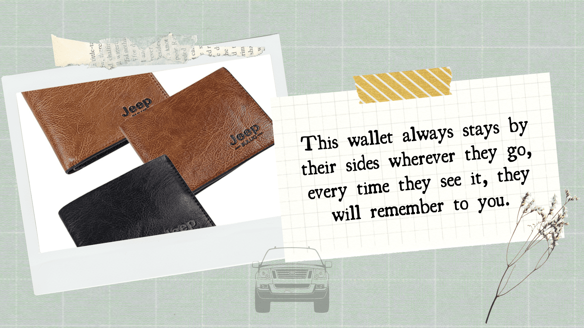 stunnining gift store blog Leather Jeep Bifold Wallet for jeep lover