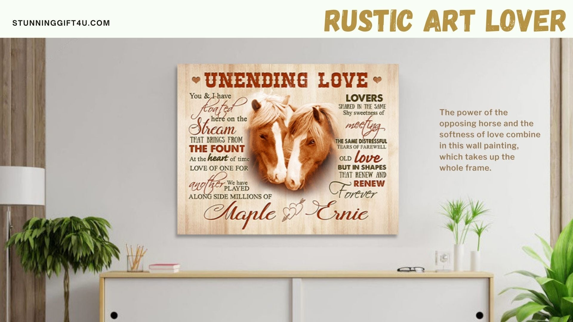 anniversary gift for him who love rustic art