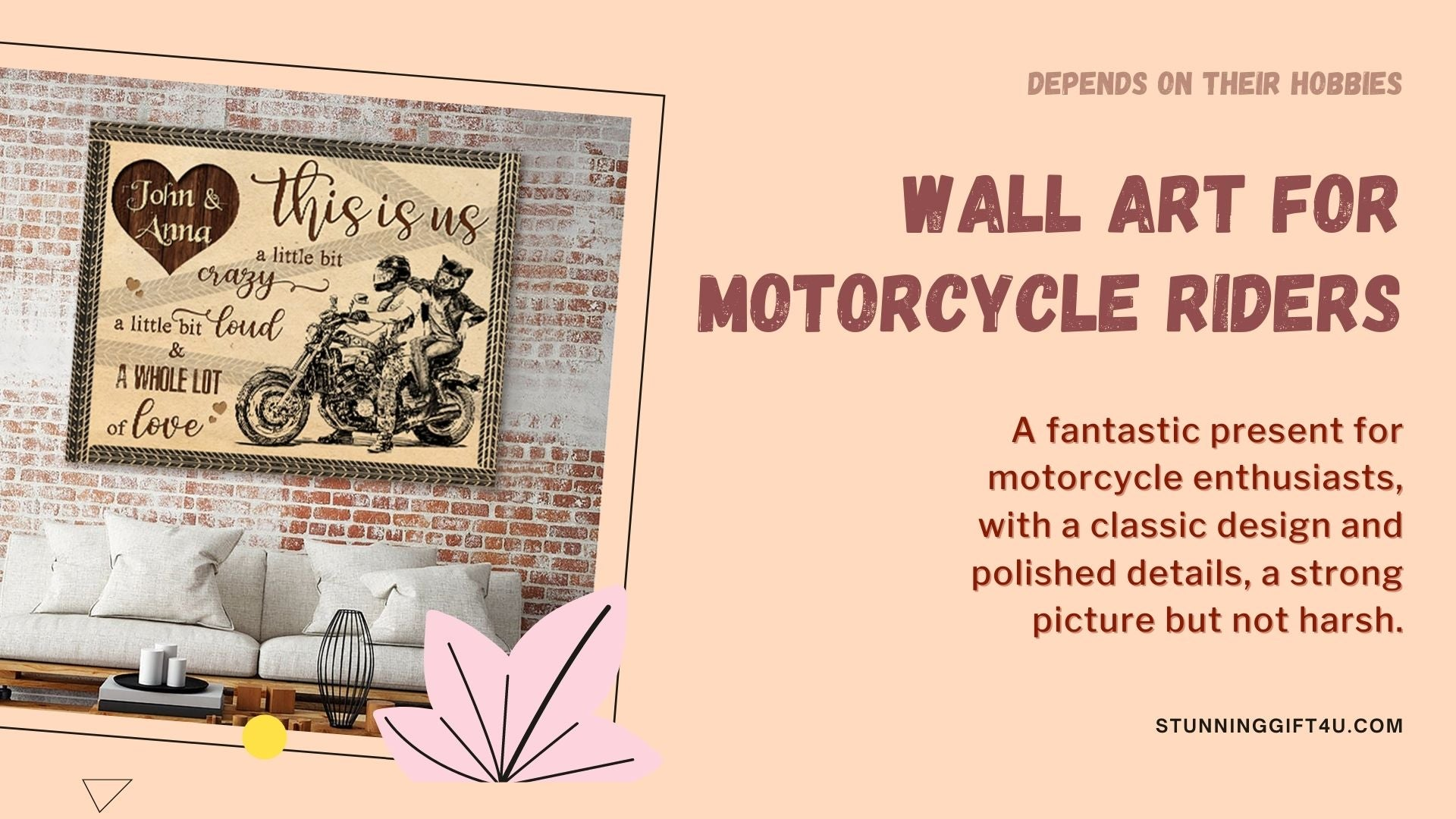 Check out a gift for him wall art for motorcycle lovers from Stunning Gift Store