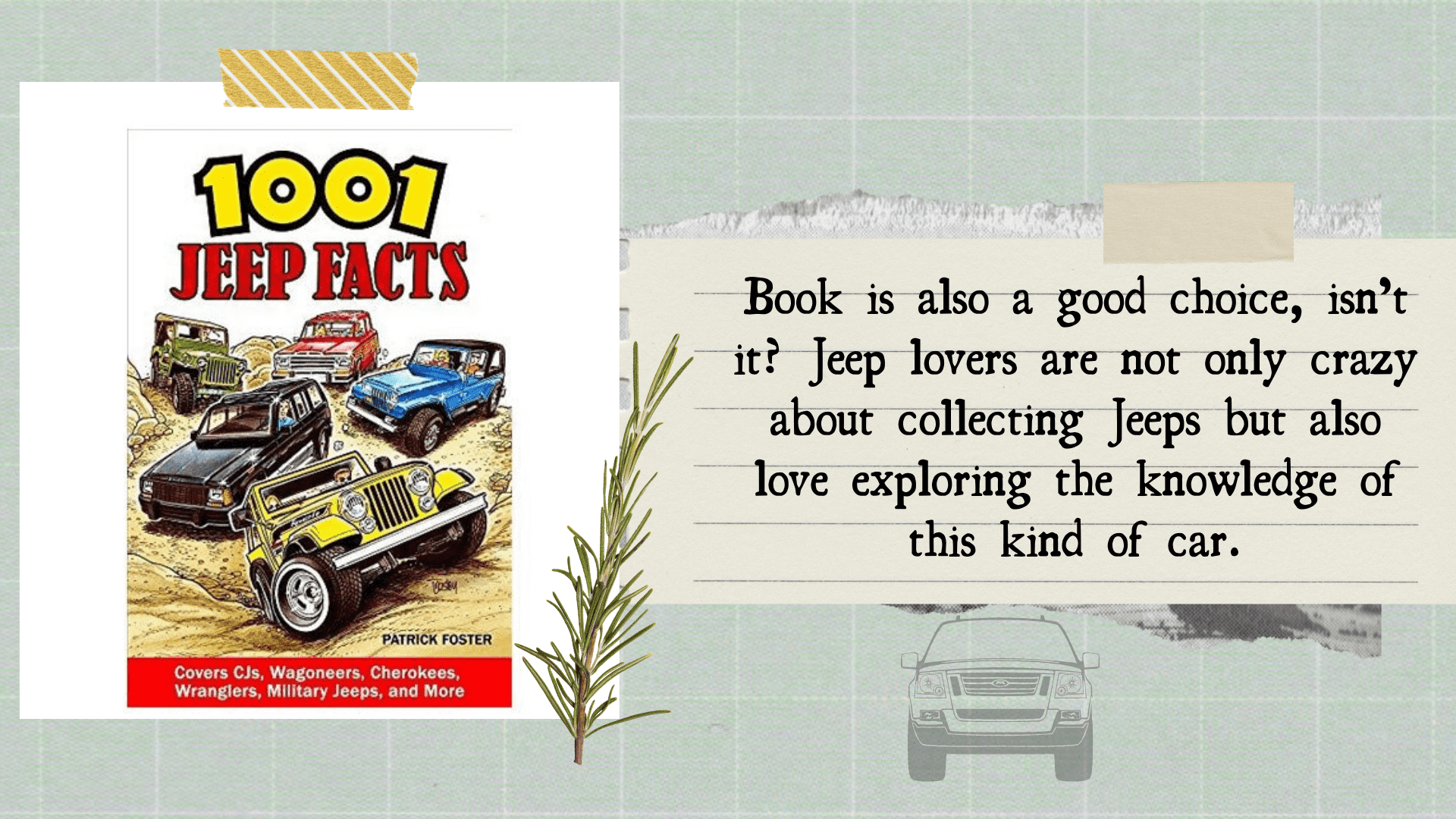 stunning gift store blog gift idea 101 Jeep Facts Book for Jeep lover
