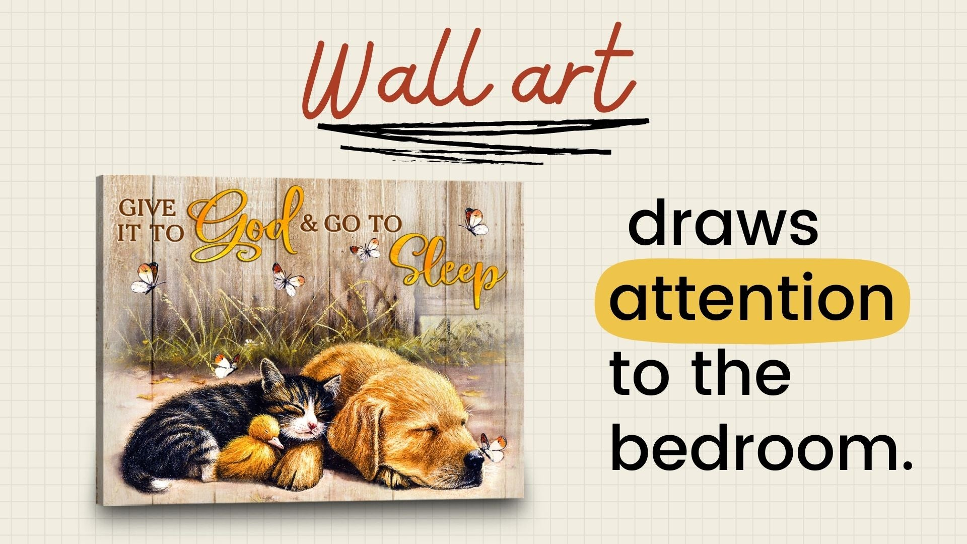 Wall art draws attention to the bedroom | Bedroom canvas art