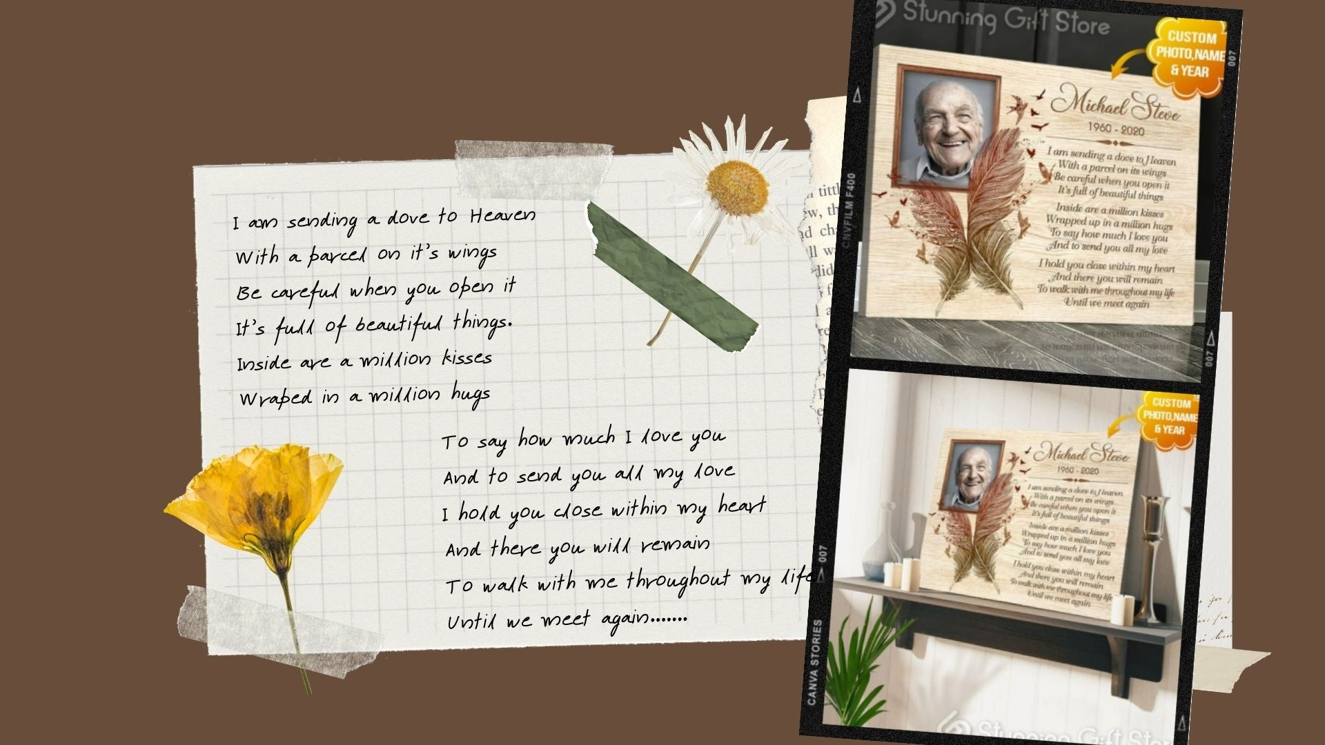 meaningful poems for loss of father poster