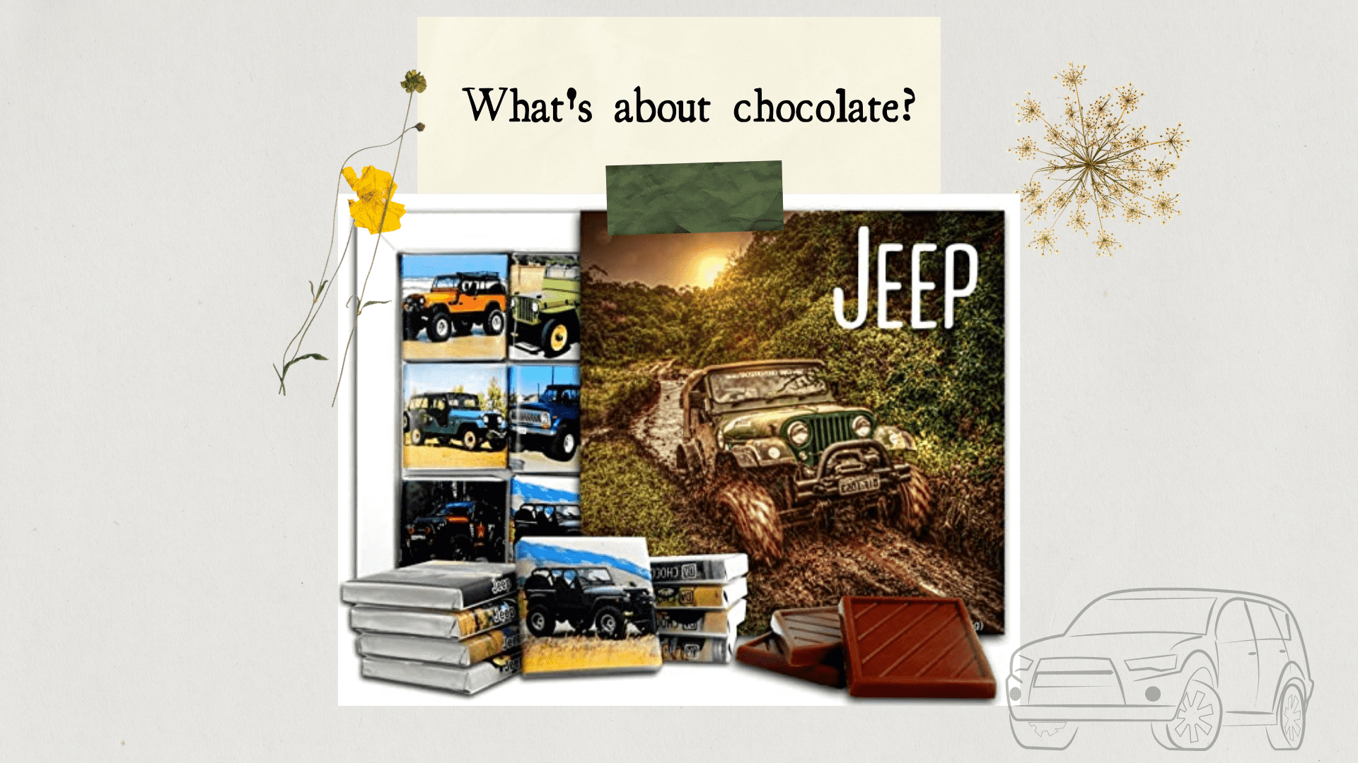 Stunning gift store blog gift idea Chocolate Gift Set for jeep lover