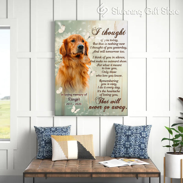 PERSONALIZED SYMPATHY PET GIFTS   DOG SYMPATHY GIFTS   PET LOSS GIFTS   I THOUGHT OF YOU TODAY