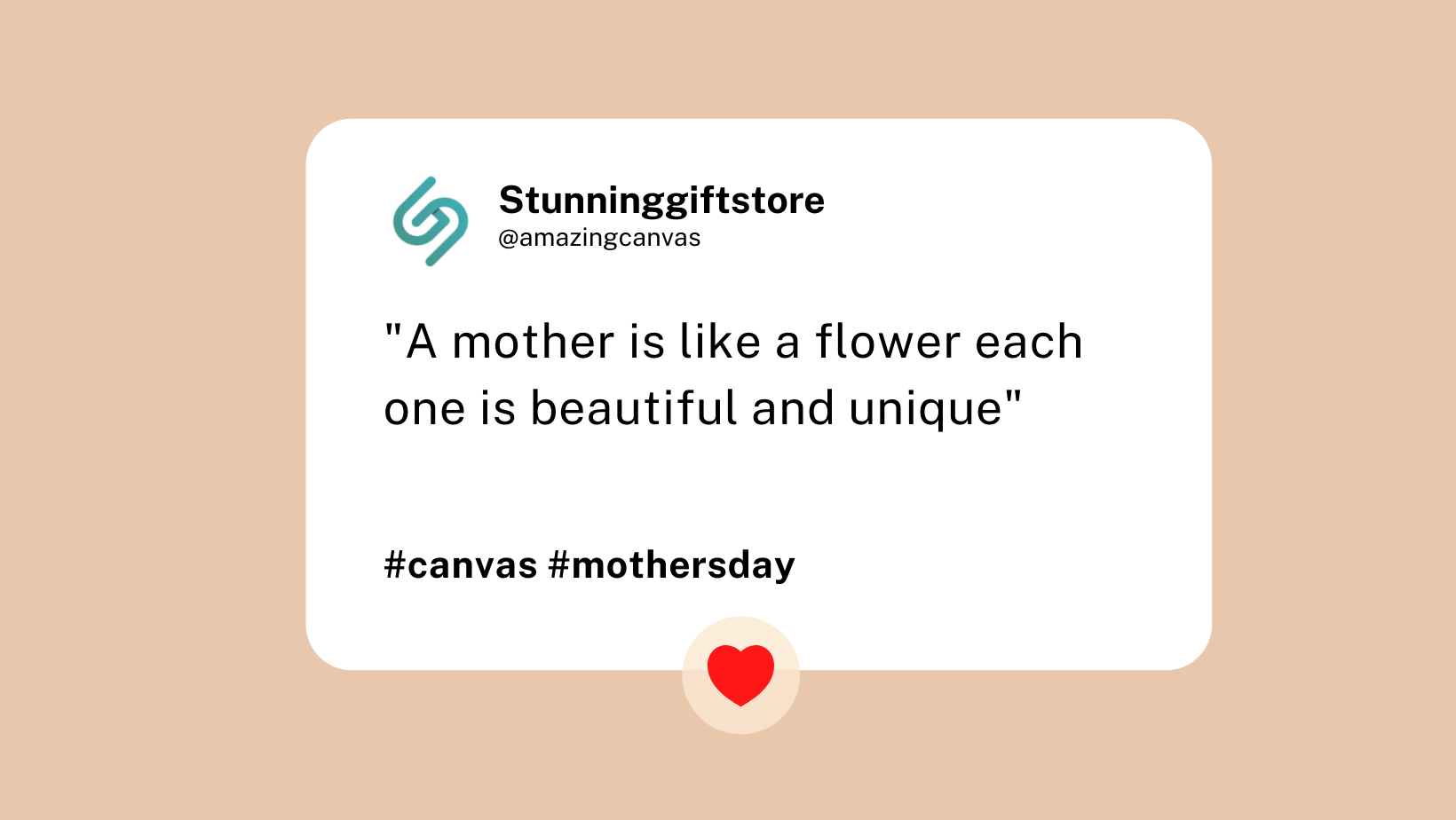 Mother's Day Canvas Stunning Gift Store