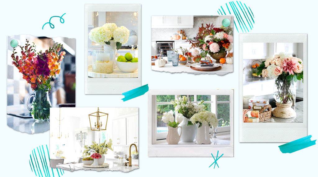 Stunning Gift Store Kitchen Blog Beautify With Florals For Kitchen And Dining Room