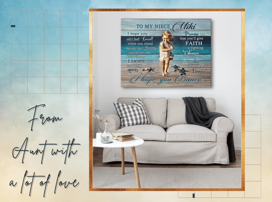 Song I Hope You Dance   Gifts For Niece   Coastal Canvas Wall Art   Custom Photo Gifts