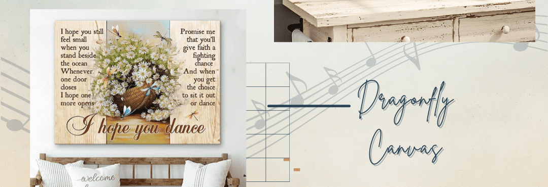 Dragonfly Canvas   I Hope You Dance Song Lyric Wall Art   Gift For Grandaughter