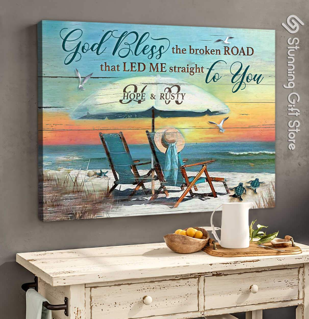 Wedding anniversary gifts   Coastal wall decor   Gift for beach lovers   Traditional anniversary gifts