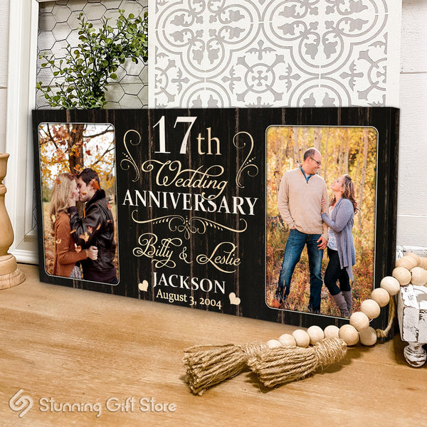 17th Anniversary Gift For Husband and Wife, 17 Year Anniversary Gift Ideas, Seventeenth Year Anniversary Gifts