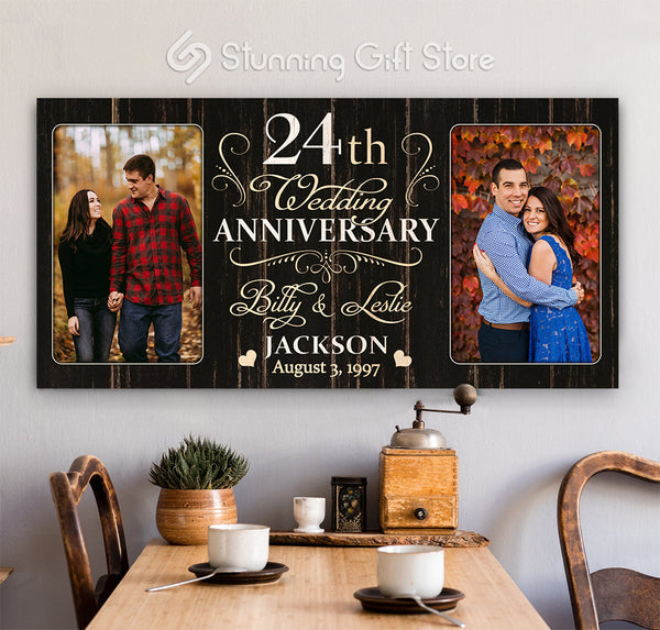 24th Anniversary Gift For Husband and Wife, 24 Year Anniversary Gift Ideas, Twenty-fourth Year Anniversary Gifts