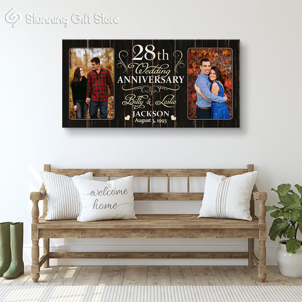 28th Anniversary Gift For Husband and Wife, 28 Year Anniversary Gift Ideas, Twenty-eighth Year Anniversary Gifts