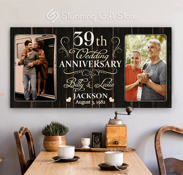 39th Anniversary Gift For Husband and Wife, 39 Year Anniversary Gift Ideas, Thirty-ninth Year Anniversary Gifts