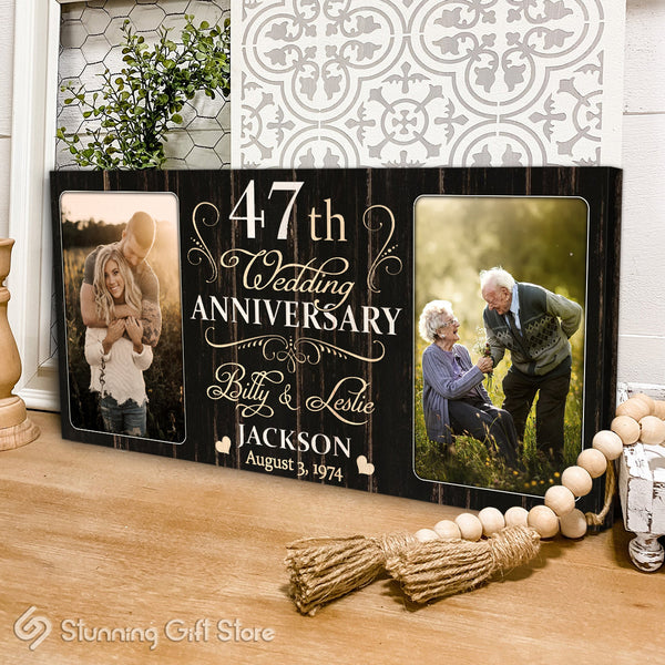 47th Anniversary Gift For Husband and Wife, 47 Year Anniversary Gift Ideas, Forty-seventh Year Anniversary Gifts