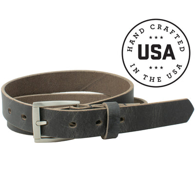 Child's Smoky Mountain Distressed Leather Belt (Gray) by Nickel Smart®