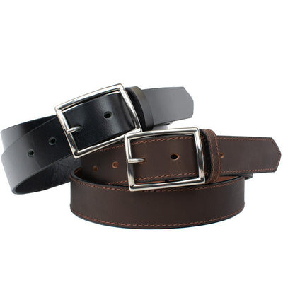 The Entrepreneur Titanium Belt Combo (Black and Brown) by Nickel Smart®
