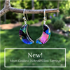 Moon Goddess Dichroic Glass Earrings by Nickel Smart®