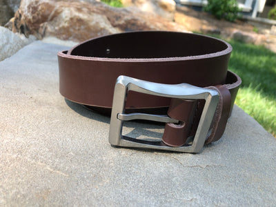 Titanium Work Belt (brown) by Nickel Smart®