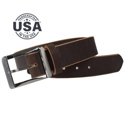 Titanium Work Belt II (Brown) by Nickel Smart, Nickel Free, Made in the USA