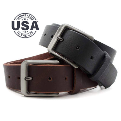 Nickel free belt set is handcrafted in the USA; titanium buckles and solid leather give it a lifetime guarantee!