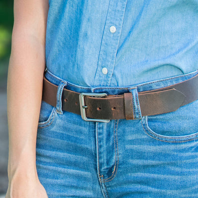 Roan Mountain Distressed Leather Belt by Nickel Smart - athenaallergy.com, casual belt