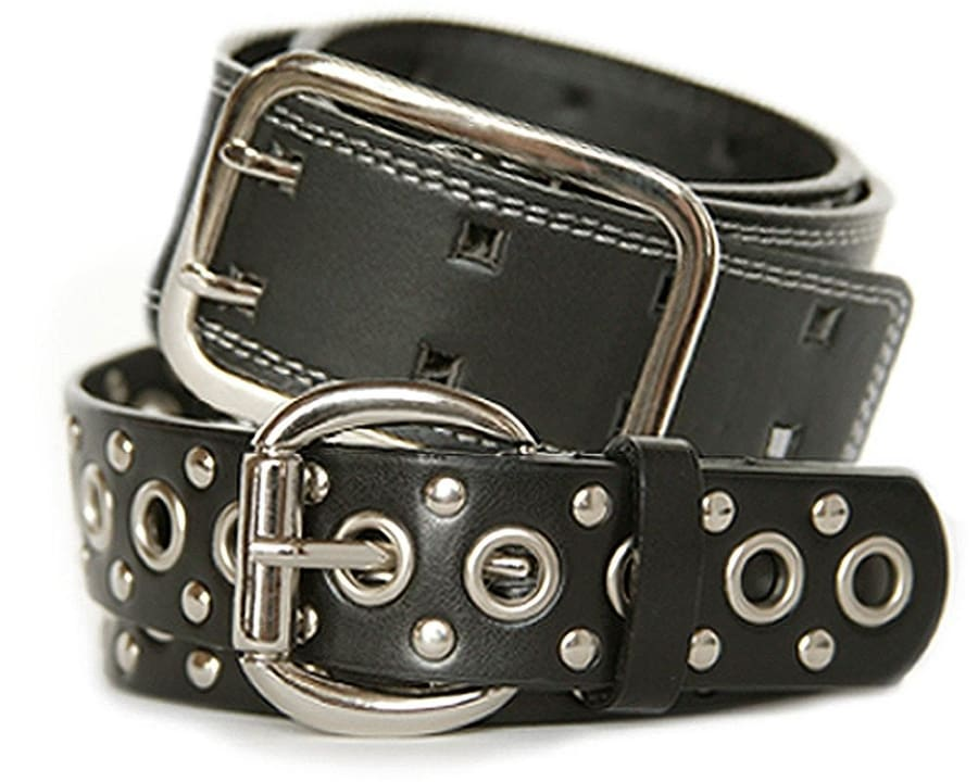 Nickel free black belt set - trendy style