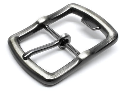Nickel free bottle opener buckle in gunmetal gray - center bar buckle looks great and will open bottles!