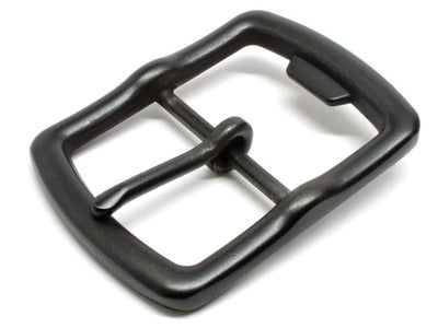 Nickel free bottle opener buckle in matte black - center bar buckle looks great and will open bottles!
