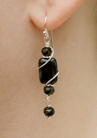 Cape Hatteras Earrings by Nickel Smart - athenaallergy.com, handmade in the USA