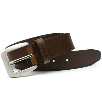 Brown leather strap with nickel free buckle - Casual Brown Belt II