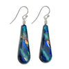 Beautiful greens and blues make up the dichroic glass nickel free earrings