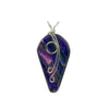 Ivy Pendant in Lilac Dichroic glass; nickel free jewelry has artistic silvery wires to give a beautiful balance