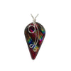 Glamorous rainbow red dichroic glass nickel free pendant