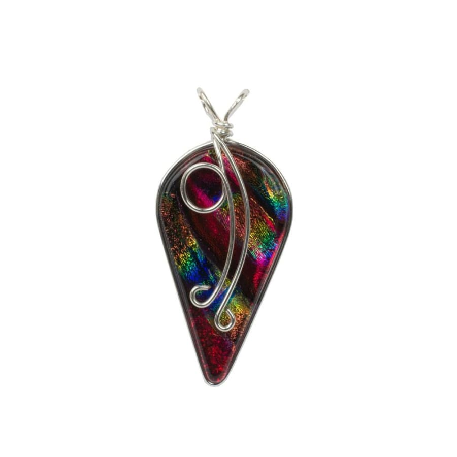 Ivy Pendant - Rainbow Red by Nickel Smart - athenaallergy,com, nickel free jewelry