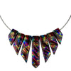 Handcrafted in the USA, brilliant rainbow red colors in a sophisticated nickel free necklace