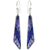 Comet-shaped dichroic glass earrings in purples and lilacs - handcrafted nickel free earrings