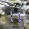 Sparkling in the light, purple dichroic glass nickel free earrings