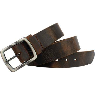 Rocky River Brown Belt by Nickel Smart - athenaallergy.com, hypoallergenic