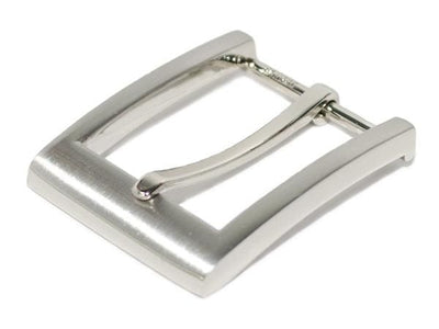 Nickel free buckle with brushed satin silver-tone finish