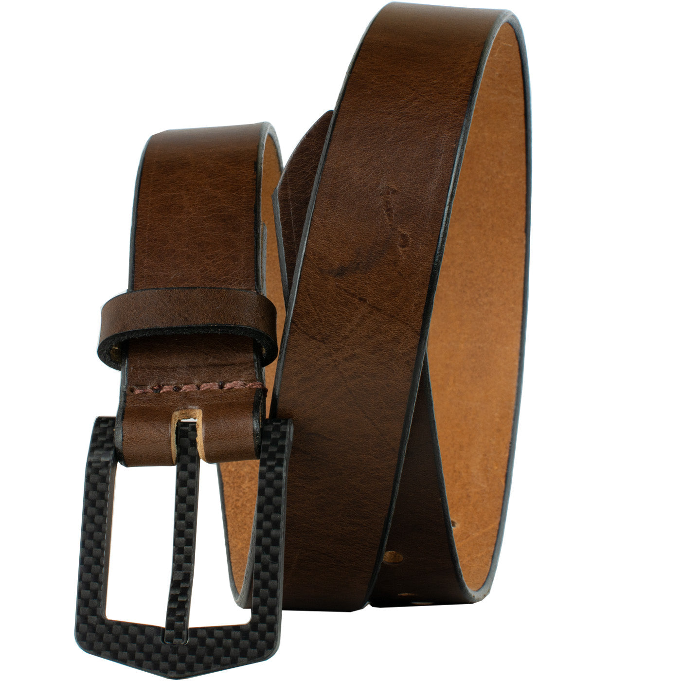 The Stealth Brown Belt by Nickel Smart - athenallergy.com, nickel free, hypoallergenic