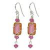 Beautiful Czech Glass Nickel Free Earrings - blush colors of Sunset Beach