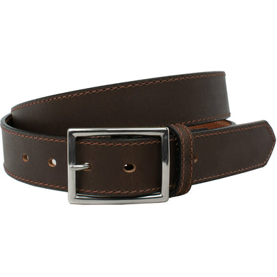 The Entrepreneur Titanium Belt (Brown) by Nickel Smart®
