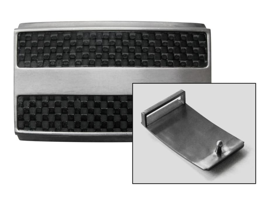 "Titanium-Carbon Fiber Buckle (1¼ "") by Nickel Smart - athenaallergy.com, nickel free"