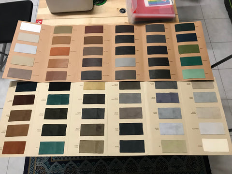 Leather Swatches - Vogelle Milan, Italy