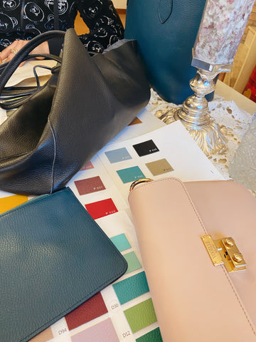 Leather Swatches in Milan